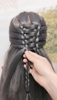Super easy hairstyle worth giving a try! Super Easy Hairstyles, Easy Hairstyles For Long Hair, Braids For Long Hair, Scarf Hairstyles, Braided Hairstyles, Updo Hairstyle, Braided Updo, Prom Hairstyles, Hair Scarf Styles