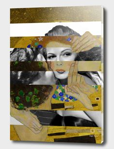 Discover «Klimt's The Kiss & Rita Hayworth with Glenn Ford», Exclusive Edition Acrylic Glass Print by Luigi Tarini - From $85 - Curioos