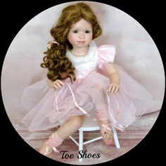 Pamela Erff & Gloria Vanderbilt *Toe Shoes*Porcelain Sis for Virginia Turner