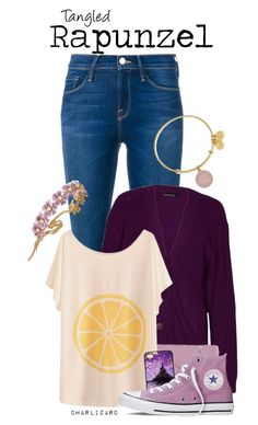 """""""Rapunzel"""" by charlizard ❤ liked on Polyvore featuring Frame Denim, Coach, Converse, Alex and Ani and Jennifer Behr"""