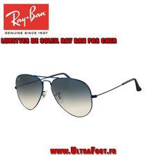 Ray Ban RB3025 Lunettes de soleil aviator Metal Blue Matte Frame Crystal  ultrafoot d4b8d96d68b4
