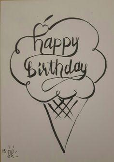 Happy Birthday Ice cone Happy Birthday, Ice, Home Decor, Happy Aniversary, Homemade Home Decor, Happy B Day, Ice Cream, Decoration Home, Happy Birth Day