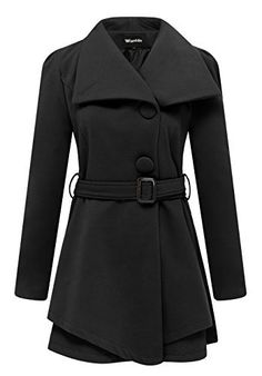 Classic wool walker with a timeless elegance that makes this styles a perfect addition to any wardrobe. Pairs great with jeans or dresses up easily for special occasions and evenings. Single breasted city wool pea coat with convertible lapel and vertical shaping seams. Perfect for use at daily...  More details at https://jackets-lovers.bestselleroutlets.com/ladies-coats-jackets-vests/wool-pea-coats/product-review-for-wantdo-womens-wool-wrap-swing-coat-with-belt/