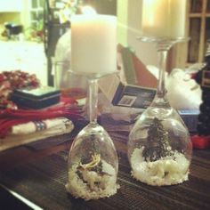 Snow globe candleholders - idea for craft night for Christmas?