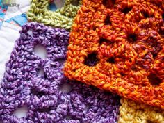 """Yarnaway's crochet scrapbook features this great WIP, our """"Midwest Meadow"""" pattern in Homespun"""