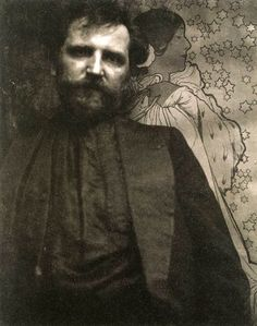 Alphonse Mucha (1860-1939) - Czech Art Nouveau painter and decorative artist, known best for his distinct style. Photo Edward Steichen