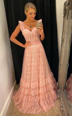 Pink Prom Dresses, Backless Prom Dresses, Grad Dresses, Mermaid Prom Dresses, Prom Party Dresses, Pink Dress, Club Dresses, Party Mode, Gauze Dress