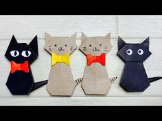 Cute Origami, Origami Easy, Origami Paper, Diy Paper, Paper Crafts, Halloween Activities, Halloween Crafts, Cher Birthday, Diy And Crafts