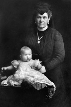 Grand Duchess Maria Pavlovna with one of her grandchildren