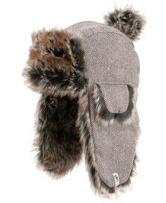 4643a5aaadd Sherpa Winter Deerstalker Hat Grey