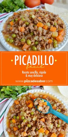 Picadillo fácil - So Tutorial and Ideas Healthy Dinner Recipes, Cooking Recipes, Vegetarian Recipes, Easy Recipes, Lunch Recipes, Crockpot Recipes, Mexican Cooking, Mexican Food Recipes, Carne Molida Recipe