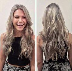 Lange Haare Blond Mode