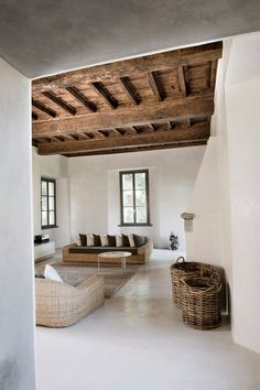 LOVE or NOT: Contemporary rustic minimalism - Дизайн дома Interior Architecture, Interior And Exterior, Interior Design, Stucco Interior Walls, Stucco Walls, Interior Doors, Living Room Designs, Living Spaces, Rustic Contemporary