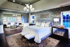 Fashionable yet cozy bedroom in Henley Traditional- Trotters Glen in Olney, Md.