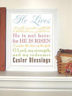 Free Printable: Easter Scriptures Subway Art