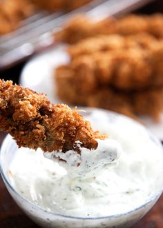 City Chicken with Greek Yogurt Dill Sauce |  Some the Wiser