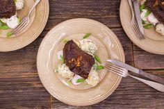 Hanger Steak With Sour Cream and Onion Potato Salad.