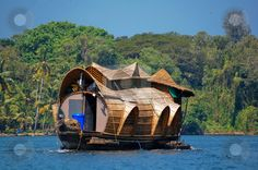 a houseboat in Kerala, India Dr. Seus would love