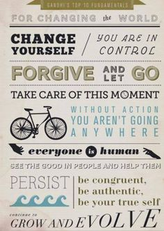 Gandhi's top ten fundamentals for influencing change - you can make an impact! #FairTrade #Activism