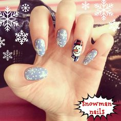 how to: christmas snowman nail art!