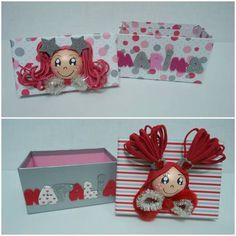 Cajas personalizadas decoradas con Goma Eva