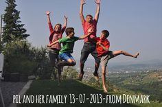 Pil and her family-13-07-2013 from Denmark jump for Forestaria in Lucca