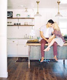 Kitchen Engagement Shoot - Phoenix Wedding Photographer - Melissa Jill Photography