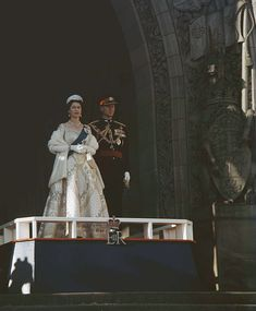 Queen Elizabeth II and the Duke of Edinburgh in.