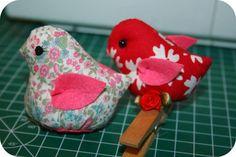 Blog Feltro-Aholic ♥ : molde passarinho diferente