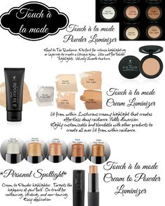 Touch à la mode cream to powder luminizer