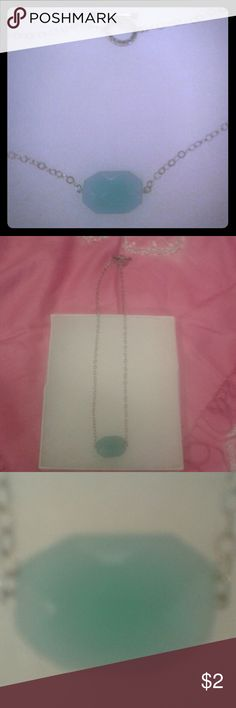 """NWOT Danielle Janine 18"""" Necklace w/ Green Stone NWOT, Silver with Medium Green Faceted Bead, Small green beads at clasp that has a Marcasite """"look"""". Danielle Janine Jewelry Necklaces"""