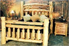 Red Cedar Post & Twig Bed