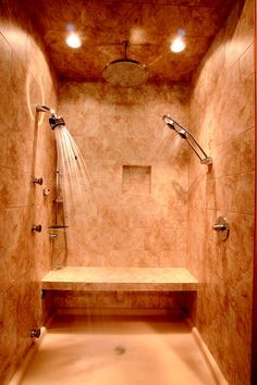 Shower and heated floors