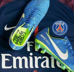 Neymar blue merqurial boots #futbolbotines