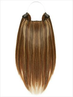 """18"""" Straight Layered Remy Flip-In Extensions 110g #Chestnut Honey Frost (F4/27/30)"""