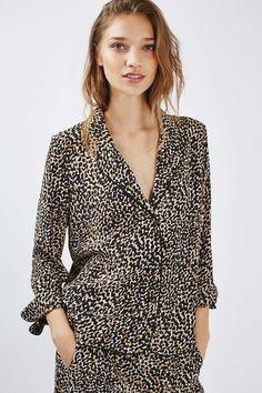 Animal Print Pyjama Style Jacket - Jackets & Coats - Clothing - Topshop