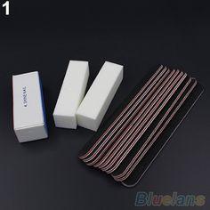 2015 nova Hot13PCS Nail Art lixar arquivos Buffer do bloco Manicure Pedicure ferramentas Gel UV Set 1VWR alishoppbrasil