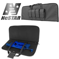 NcSTAR VISM Urban Gray Tactical Hunting External Pocket Compact Rifle Carry Case