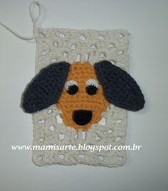 Crochet et Tricot da Mamis: Receita e Gráfico - Retângulo Cachorrinho em Crochet