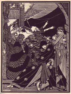 Harry Clarke. Ilustración para los Cuentos de misterio e imaginación de Edgar Allan Poe (1919)