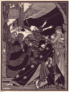 """Maria Popova: """"Harry Clarke's hauntingly beautiful and beautifully haunting 1919 illustrations for Edgar Allan Poe's Tales of Mystery and Imagination — a collection of 29 of Poe's tales of the magical and the macabre."""""""