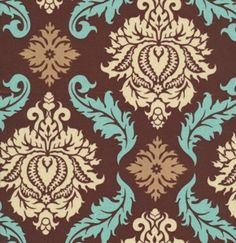 Joel Dewberry Aviary 2 Damask Bark   One yard by FabricPlace, $8.95