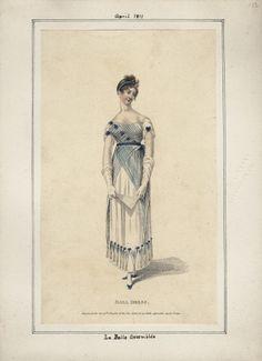 La Belle Assemblee, April 1811, Ball Dress