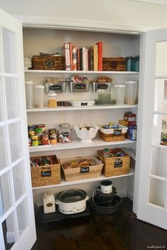Pantry organization and pantry coffee station