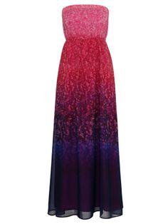 'Naples' Printed Strapless Maxi Dress - On sale!!! $63.00