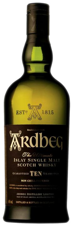 When Ardbeg 10 was released it was the first expression from the distillery not to be chill-filtered. It's a true classic from Islay, and a must have for any fan of single malt whisky. Long, tangy and quite pungent, the citrus notes reprise, together with dark chocolate and a little seaweed.