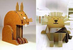 Animales de cartón corrugado: Artesanía con elementos simples | Manualidades y Artesanía