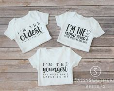 Sibling Shirts, Family Shirts, Funny Kids Shirts, T Shirts For Women, Funny Babies, Cute Babies, Custom Tumblers, Cute Baby Clothes, Siblings