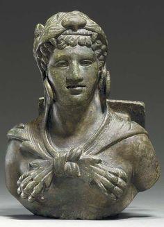 A ROMAN BRONZE BUST OF HERCULES CIRCA 2ND CENTURY A.D. Ancient Rome, Ancient Art, Ancient History, Roman Artifacts, Historical Artifacts, Roman History, Art History, Roman Sculpture, Bronze Sculpture
