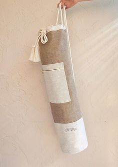 Jute Yoga Mat Bag Burlap and Linen Minimalist Oversized Yoga